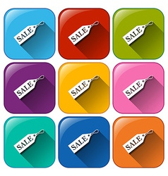 Buttons with sale tags vector