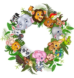 Cartoon safari animals vector