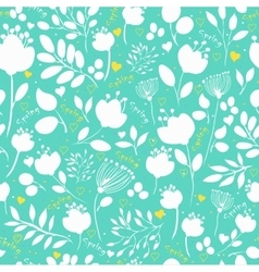 Spring flowers floral seamless pattern vector