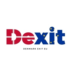 Dexit - denmark exit from european union on vector