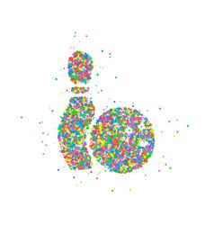 abstract bowling ball vector image vector image