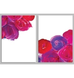Art background business cards stroke of the paint vector