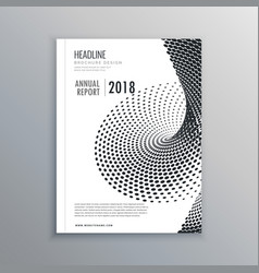 Brochure flyer design with halftone effect vector