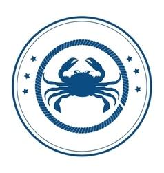 Crab delicious seafood menu icon vector