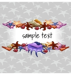 Creatures of sea clams on a background with star vector