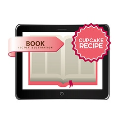 Cupcake recipe book vector