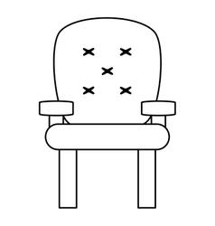 Cushioned armchair icon vector