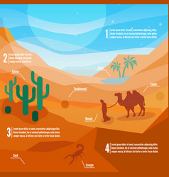 Desert infographics vector