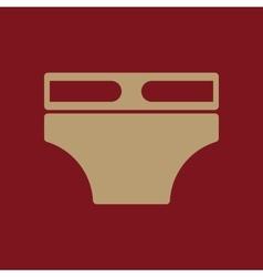Diaper icon design nappy napkin underpants vector