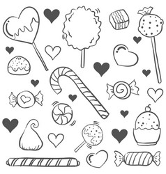 Doodle of candy style hand draw vector