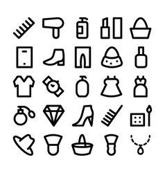 Fashion icons 4 vector