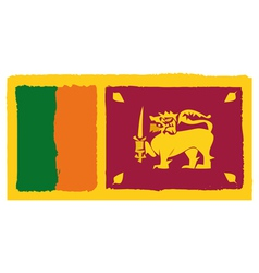 Flag of Sri Lanka handmade vector image