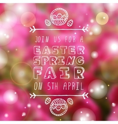 Hand-sketched easter typographic element vector
