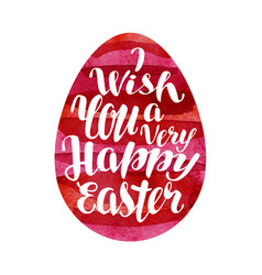 happy easter greeting card lettering vector image vector image