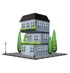 House painted in gray vector
