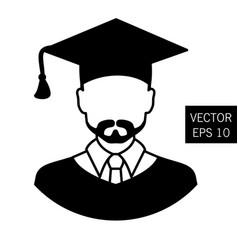 icon graduation teacher tutor graduation icon vector image