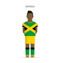 Jamaica football player soccer uniform vector