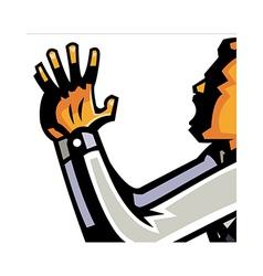 man shouting vector image vector image