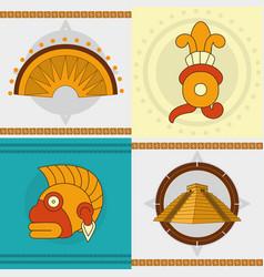 Maya icon set design vector