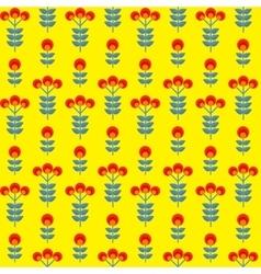 Paper trendy flat flower seamless pattern vector