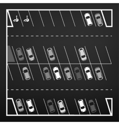 Parking lot top view vector image