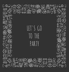Party square frame celebration pattern birthday vector