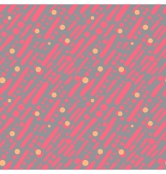 Pattern with random brushstrokes and dots vector