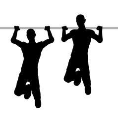 people on the horizontal bar vector image