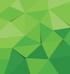 polygon background green vector image