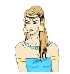 Portrait of an elven princess vector