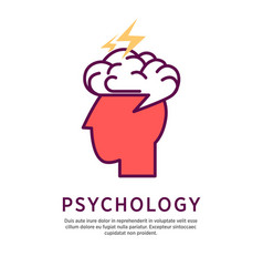 Psychology concept profile vector