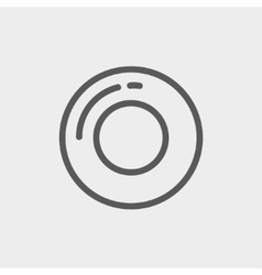 Record button thin line icon vector image