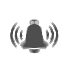 Ringing bell icon gray icon shaked at vector