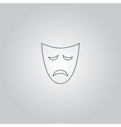 Sadness mask vector image