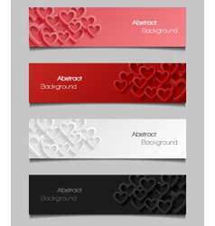 Set of abstract valentine banners vector image