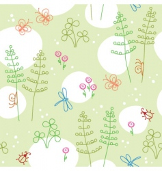 Spring seamless background vector