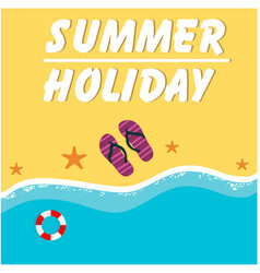 Summer holiday seashore holizon beach background v vector