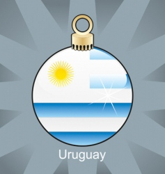Uruguay flag on bulb vector image vector image