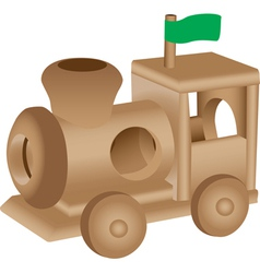 Wooden Train vector image vector image
