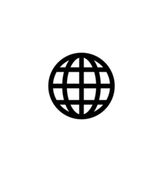 World globe icon flat vector