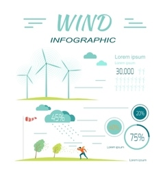Wind infographics windmills meteorology windsock vector