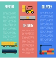 Freight and delivery flyers set vector