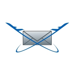 Air post delivery symbol vector image