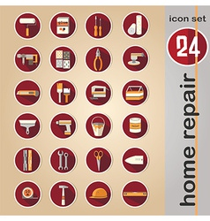 Web icon set - home repair tools vector image