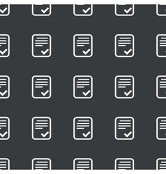 Straight black approved document pattern vector