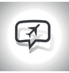 Curved plane message icon vector