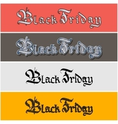 Black friday lettering sticker vector