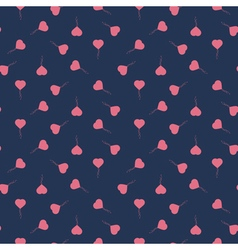 Seamless pattern with heart balloons vector image