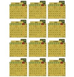 Grunge 2012 calendar vector