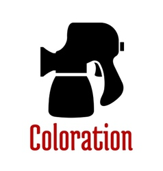 Airbrush or spray gun black silhouette vector